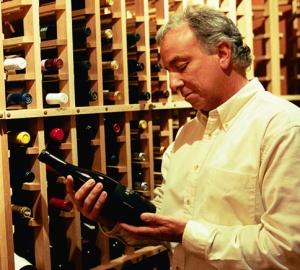 Len in wine cellar